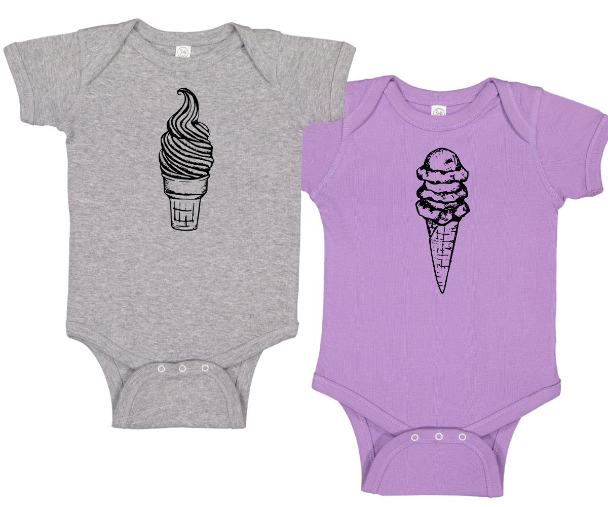 af1c6c31bf7 Ice Cream Lover Baby Romper Set