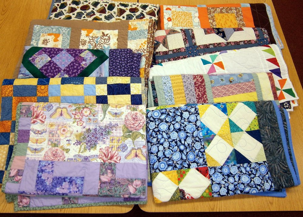 Ojai Church of Christ Comfort Quiltmakers (Project Linus Blanketeers) make handmade quilts & donate them to worthy local causes. Holly's Survival Satchels program has been a proud recipient of these quilts that bring comfort to women with cancer.
