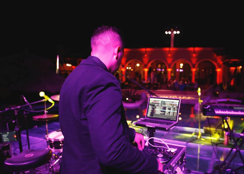 DJ  Our DJ plays music when the band takes a break so there is continuous music for your event. Whether it's background music or dance music, our DJ keeps the night going.