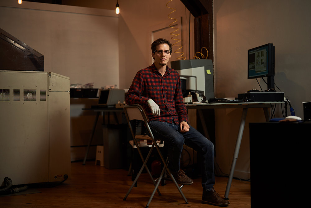 Portrait of Billy Grubbs of State Film Lab by Ryan Noltemeyer for the Creative Space project