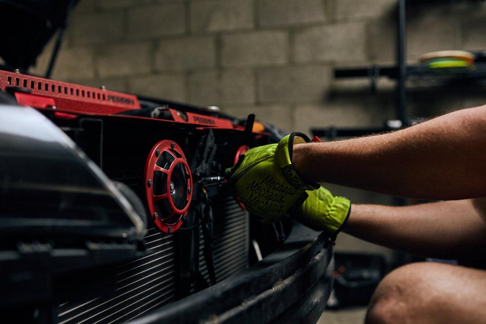 Installing Perrin Hella Horns on a Subaru WRX STI