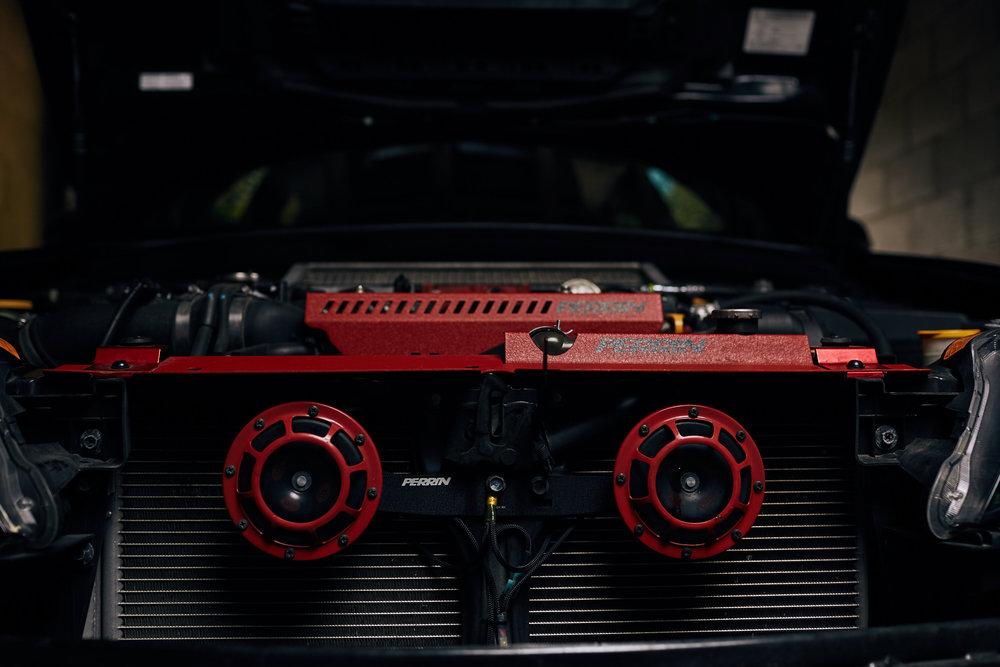 Subaru WRX STI with Perrin Hella Horns