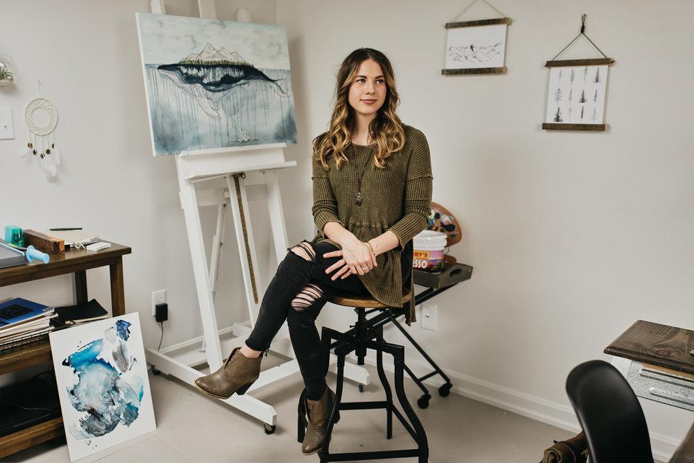Portrait of Mallory Meisner McCamy taken by Ryan Noltemeyer