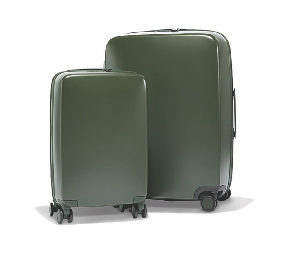 luggage set w/ built in charger -