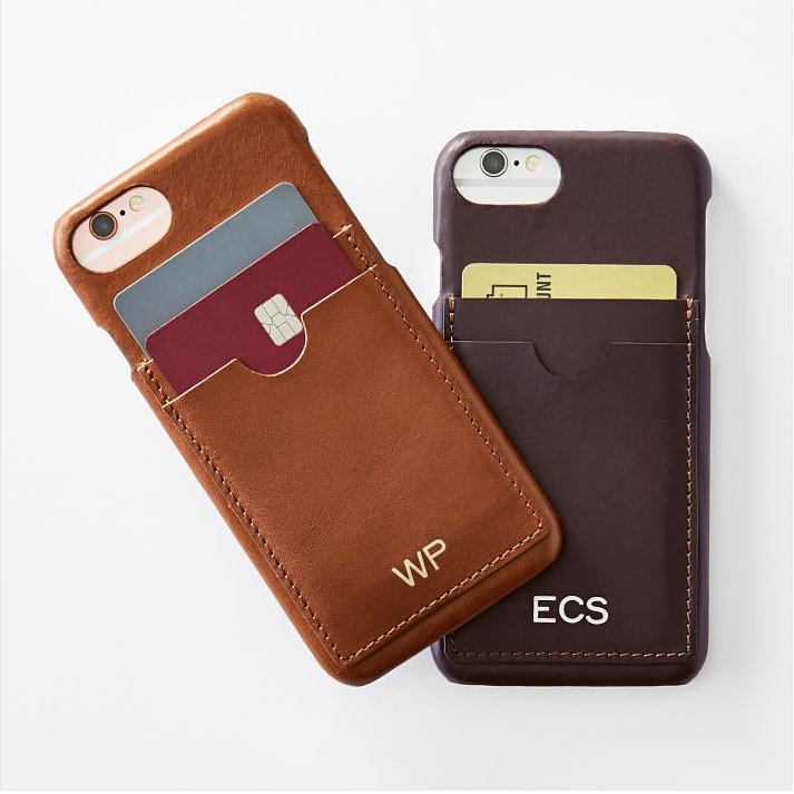 monogram phone case + wallet -