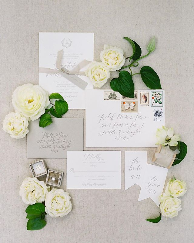 Published on @stylemepretty. Beautiful paper suite by @lahappydesign and styling by @kalebnormanjames. #film ⠀