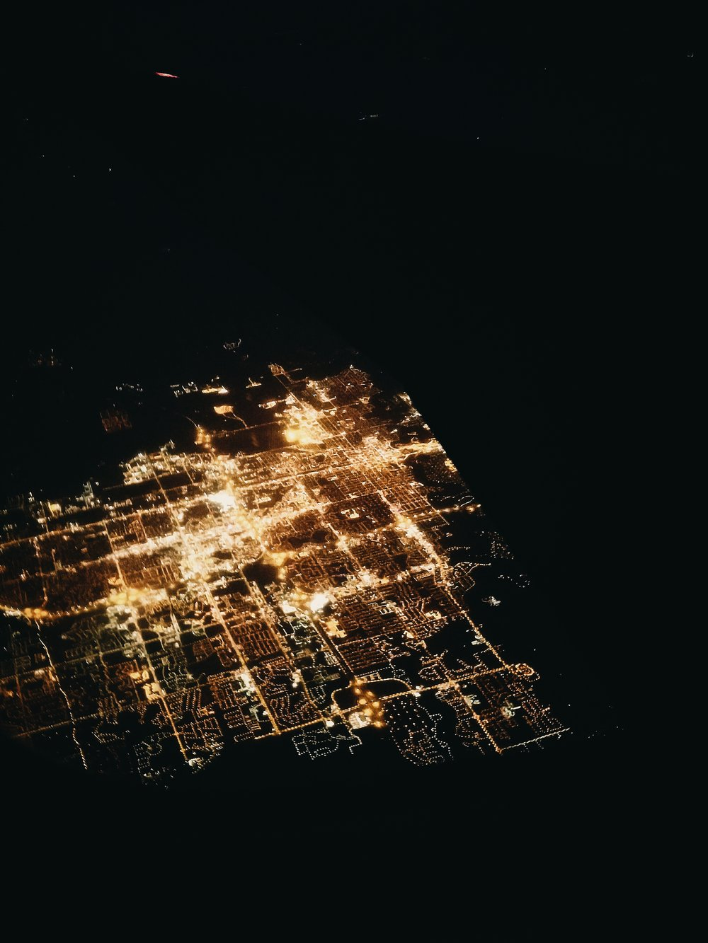 One of my favorite pictures from my overnight flight back from Spokane back in January. City lights are one of my favorite air-time sights.