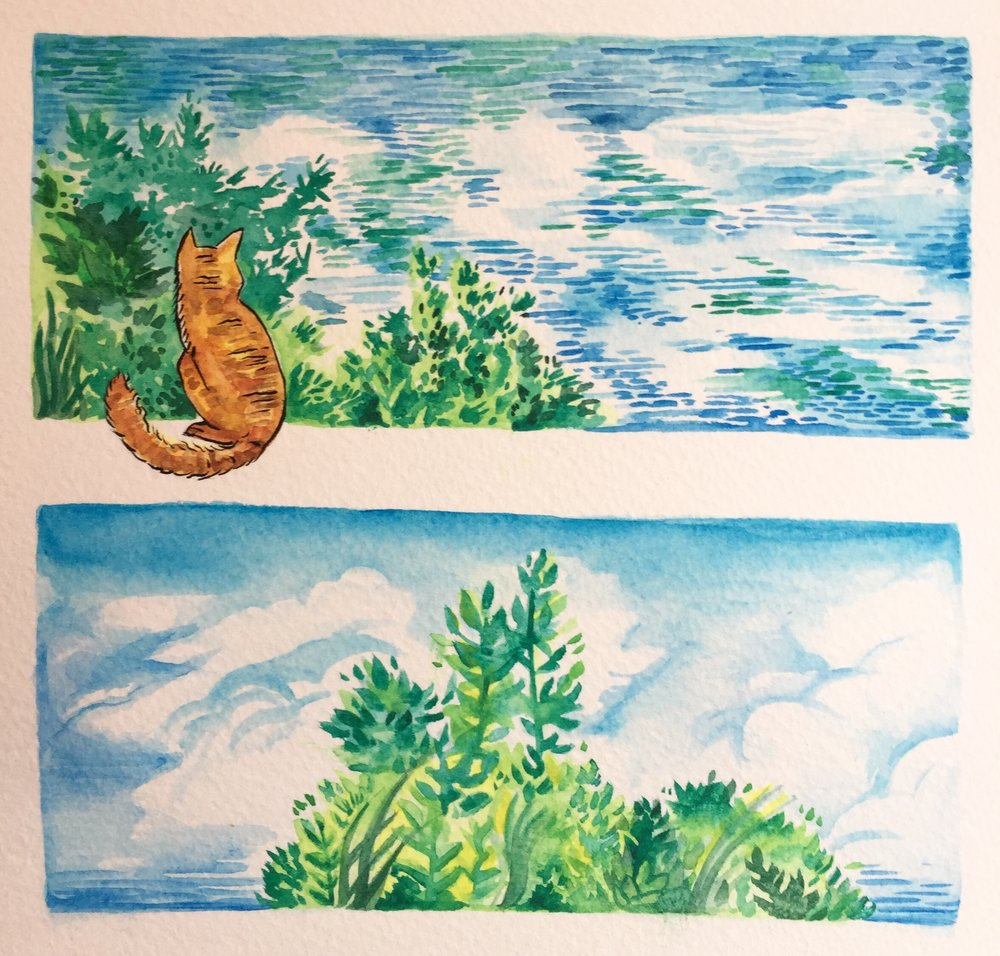 It's #WatercolourWednesday again! Carrying on some nature scenes from two weeks ago to now!