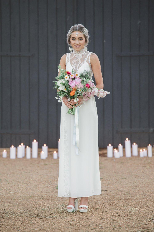 bohemian bride dubbo wedding