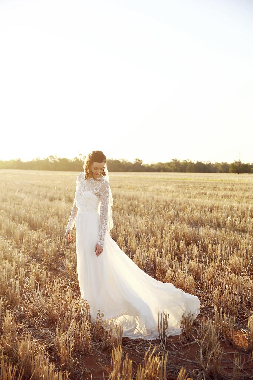 sophie in field