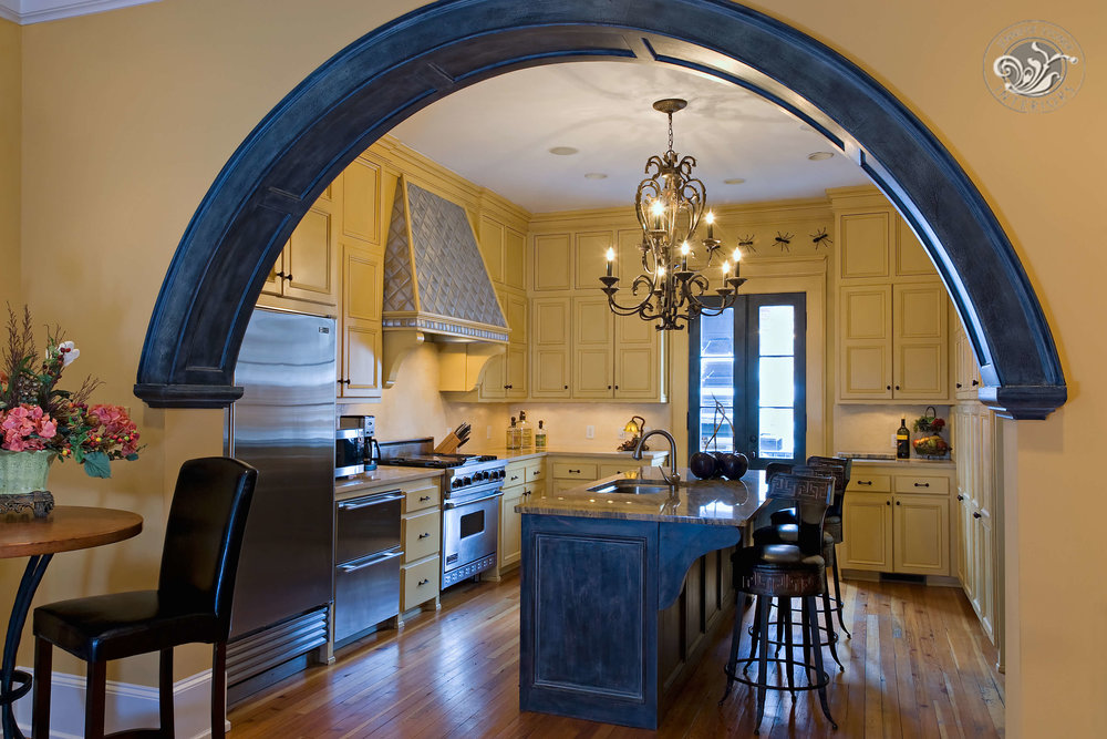 Monument Avenue Richmond kitchen arched entry