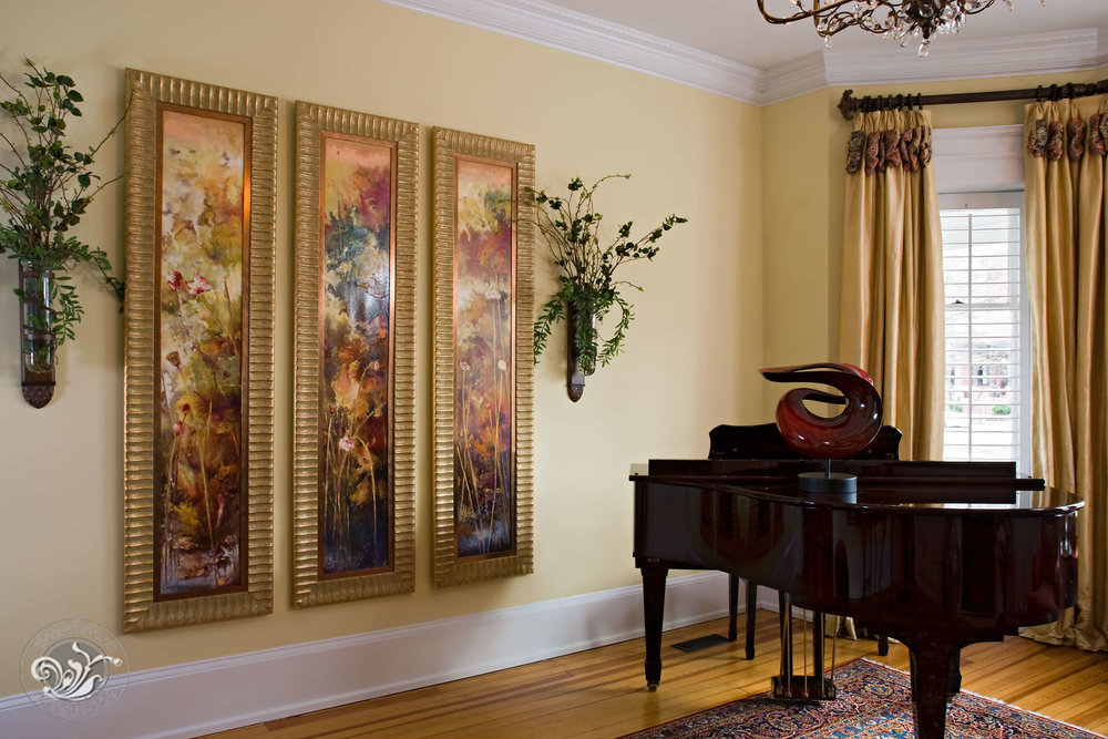 Monument Avenue Richmond living music room