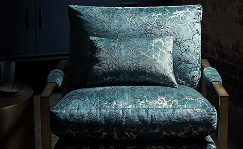 Romo Black Edition Marmori Teal Fabric