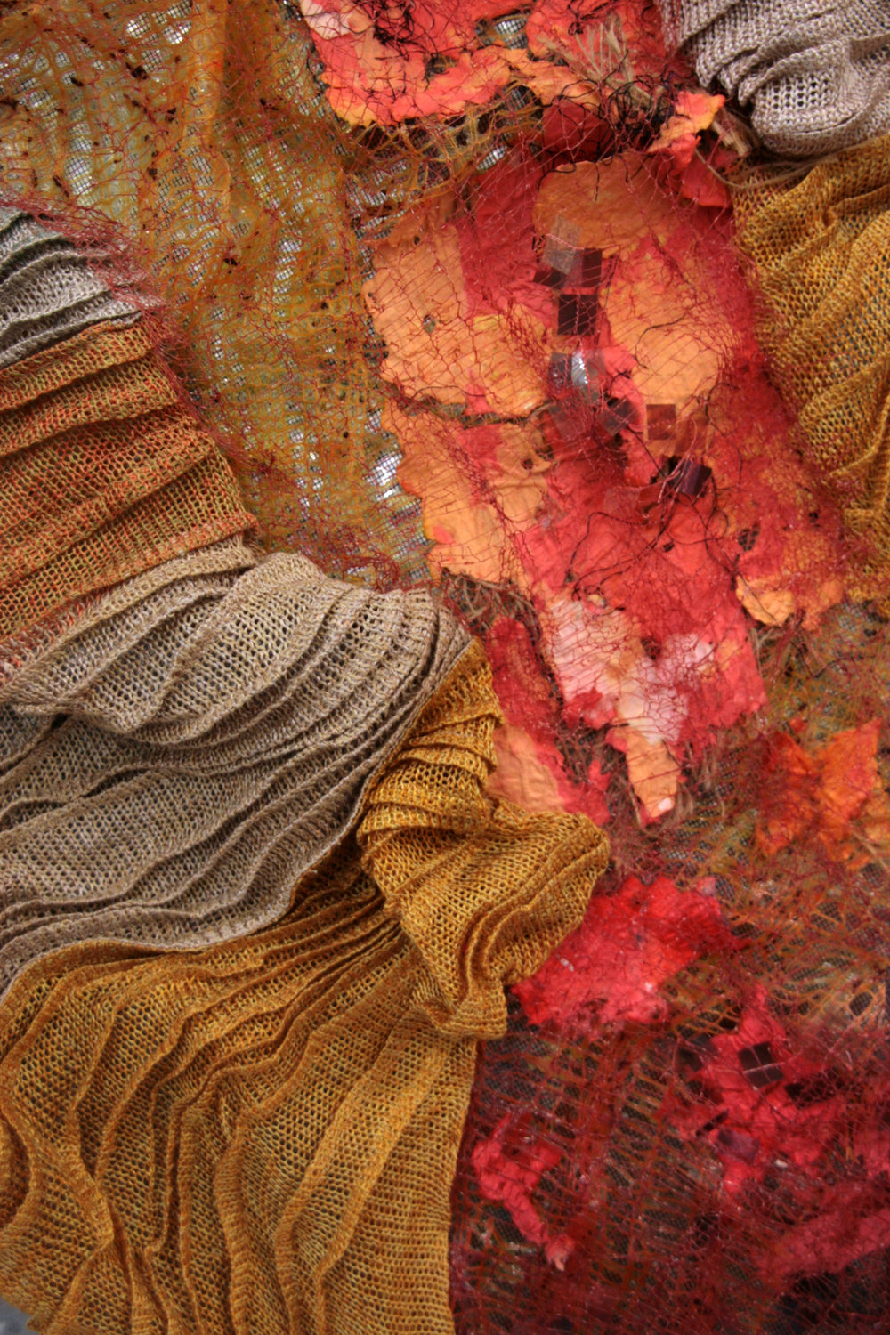 Patricia Rose,  Journey of Connection , 2015, mixed media: scientific wire, silk, wool, threads, paper, transparencies, 151 x 92 x 10cm. Photograph courtesy the artist.