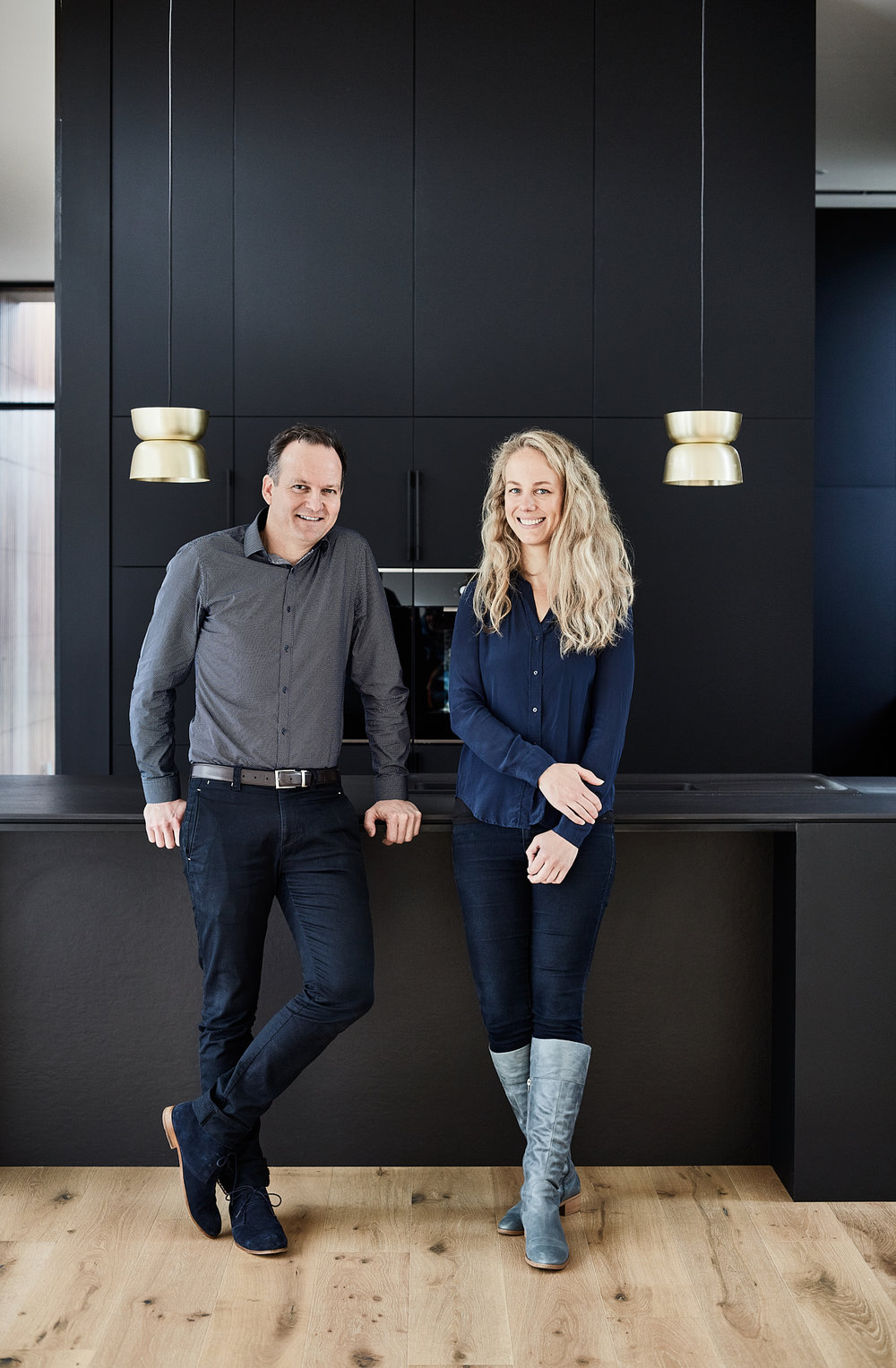 Benjamin Stibbard and Kate Fitzpatrick of Auhaus Architecture. Picture: Mike Baker