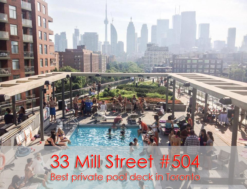 33 Mill Street: hands down, the best pool deck in Toronto.