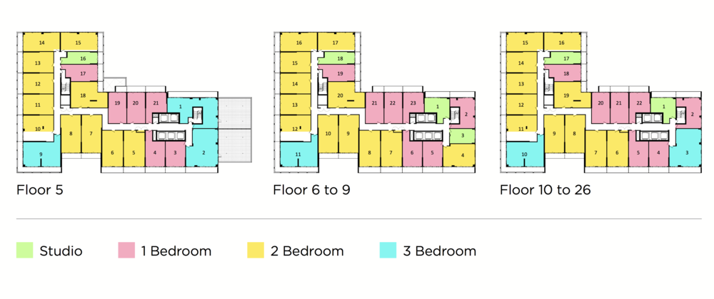 Register now for floor plans.  Here is the typical Floor Plate.
