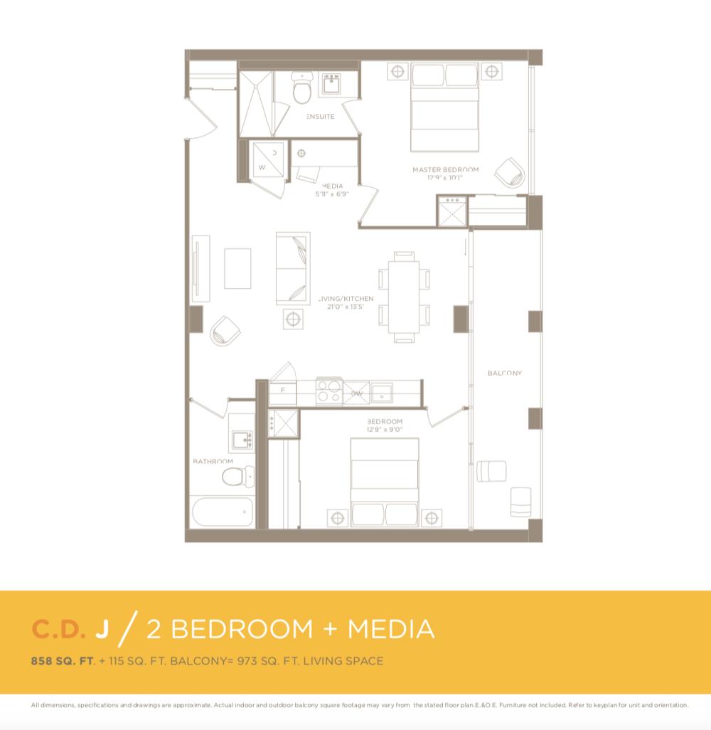 455 Front Street East N217- Floor Plan