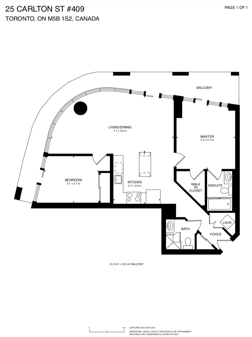 25 Carlton Street 409 - Floor Plan