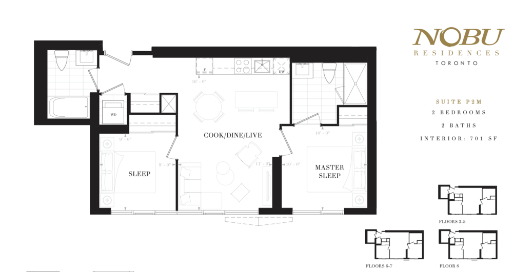 Nobu Residences Floor Plan