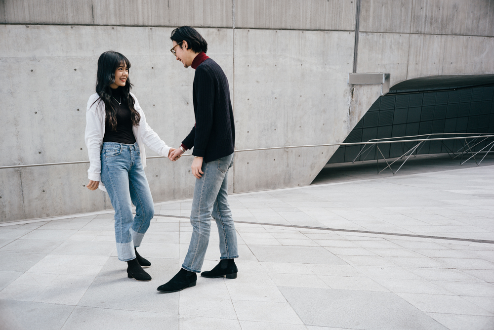 Over-posing. - We don't want to tell you how to tilt your head or where to place your hand.You know - standing there, looking at each other, enjoying each others company is enough to make an awesome photograph. I would rather do that then force you into a pose that just doesn't reflect you as a couple.This is a simple