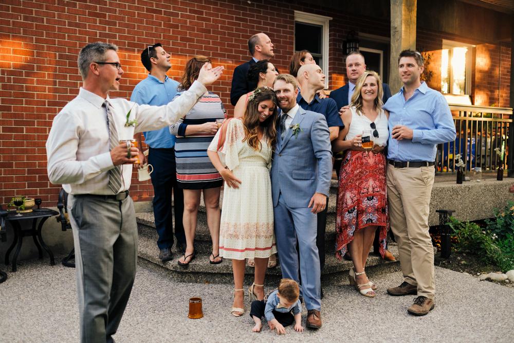 Sam + Jeff | Intimate Backyard Wedding, devicfotos.ca