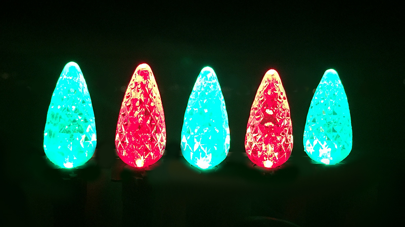 C-6 Red and Green Bulbs