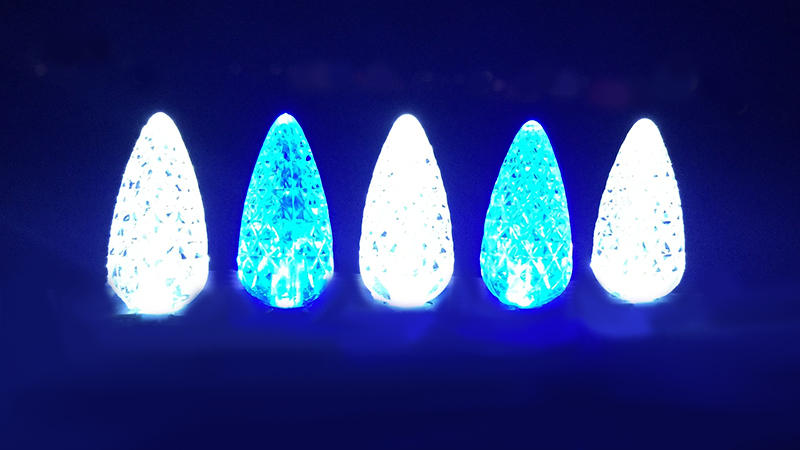 C-6 White and Blue Bulbs