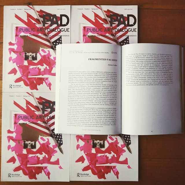 Our Artistic Director @jamesvoller was published in the Spring 2016 edition of Public Art Dialogue, an American Art Journal. Nice work! #publicart #publicartresearch #melbourneart