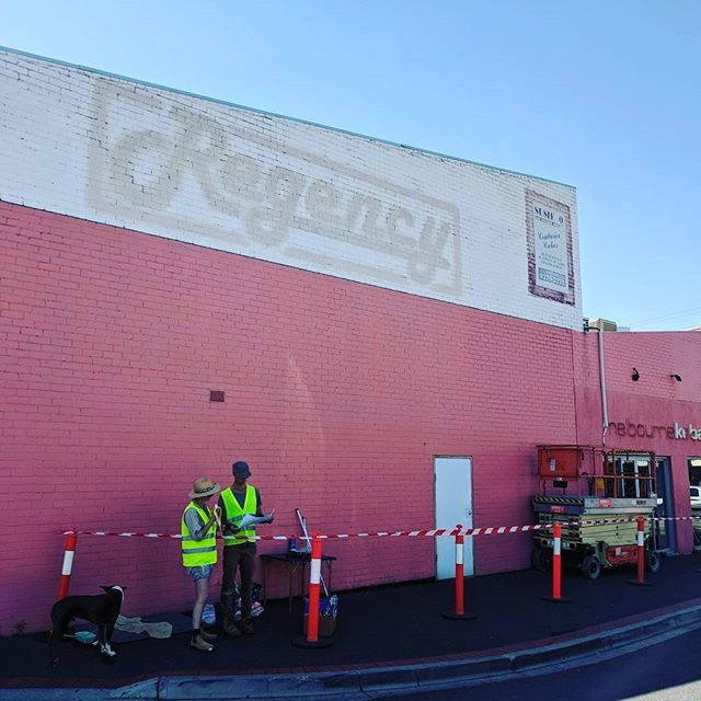 Very happy to be working on a new project with @geoffreycarran and @rowenamartinich it's our biggest project by a long shot! #melbourneart #mural #australianart #architecture #watchthisspace #commission #publicart