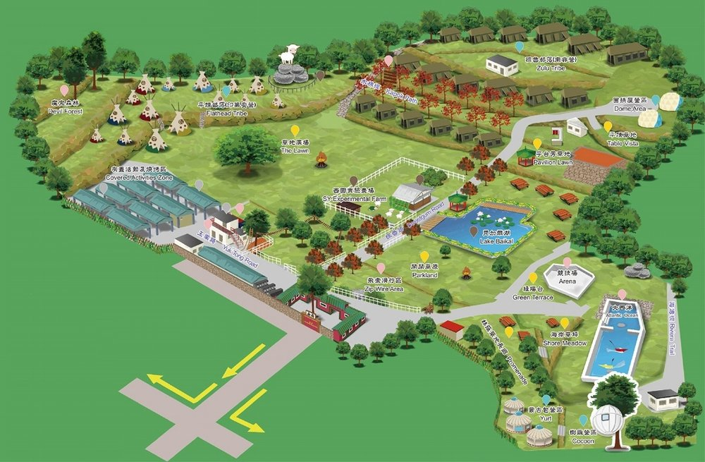 Map of Sai Yuen Farm