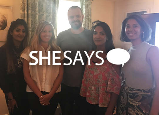 SHESAYS x SOHO HOUSE  EVENT  We joined the people behind Knit Aid, Notes to Strangers and #ThisDoesn'tMeanYes to talk about Ideas that inspire positive change.