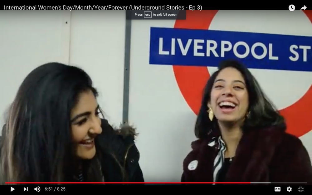 UNDERGROUND STORIES  INTERVIEW  Big shout out to  @underground.stories  for featuring our co-founders  L eyya & Roshni in the latest installation of their interview series. This episode is based around female empowerment for International Women's Day /month/year/life, and of course we had plenty to say about THAT!
