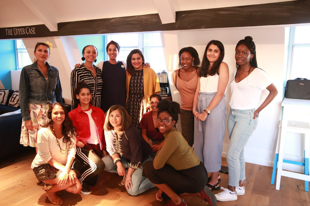Participants from our first #WOCcopywriting workshop.