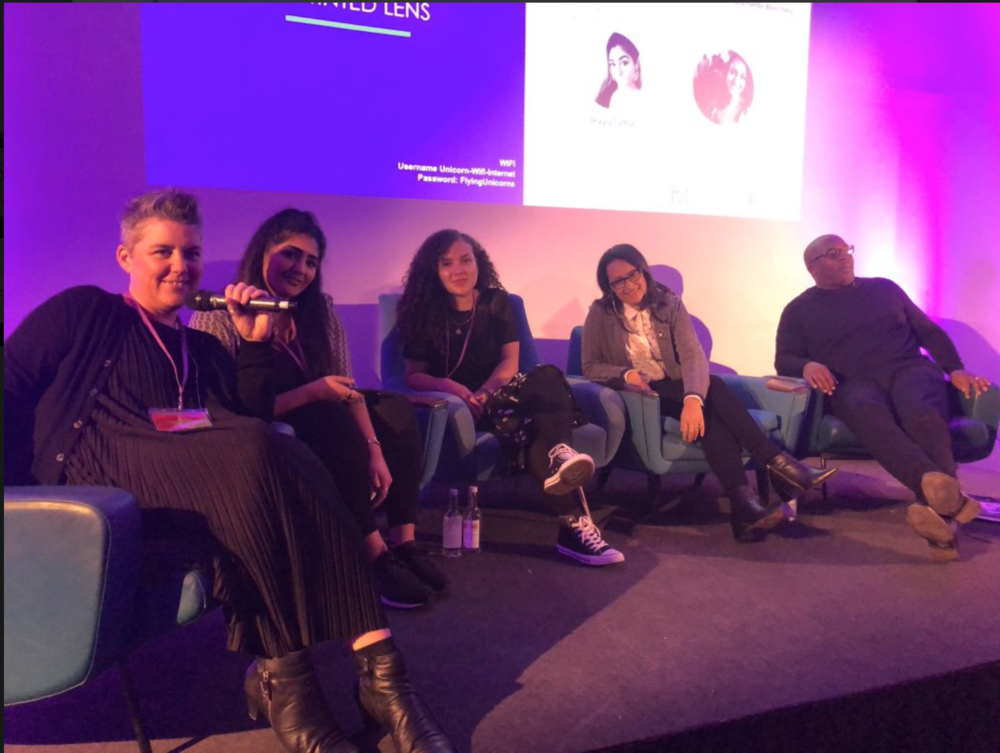 BLOOM UK  CONFERENCE  Had such a great time at Bloom UK conference talking about intersectionality in the creative industries with   Dora Michail   ,    Victoria Buchanan   ,    Adrian Walcott   and   Dannielle Beechey   - #BloomFest. Thank you for having us!  You can watch here.
