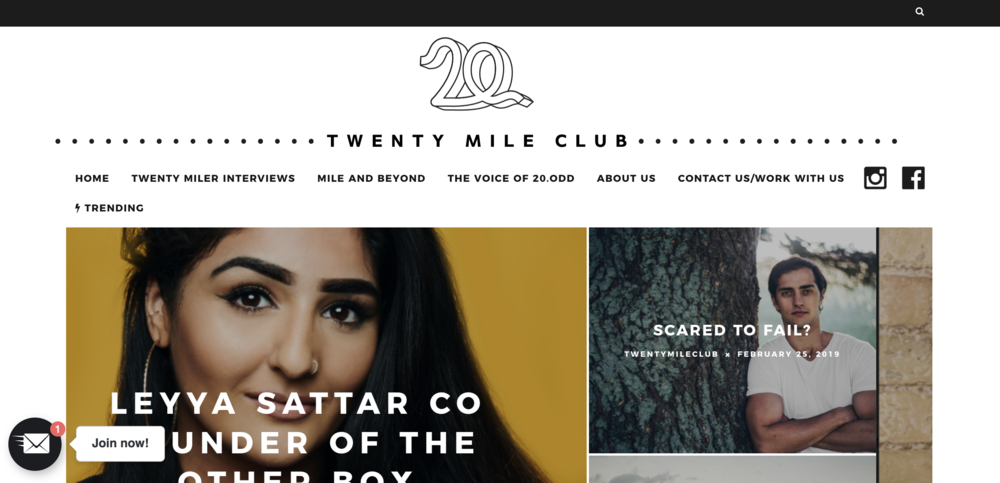 20 MILE CLUB  INTERVIEW  Our co-founder Leyya spoke to Twenty Mile Club about The Other Box, and being a creative womanof colour. You can read more  here .