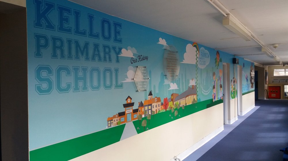 Kelloe Primary wall wrap