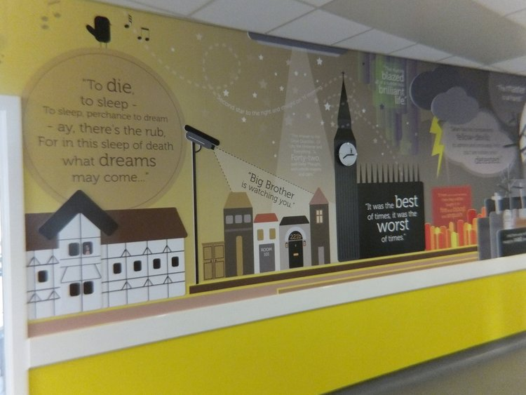Shotton Hall School wall wrap