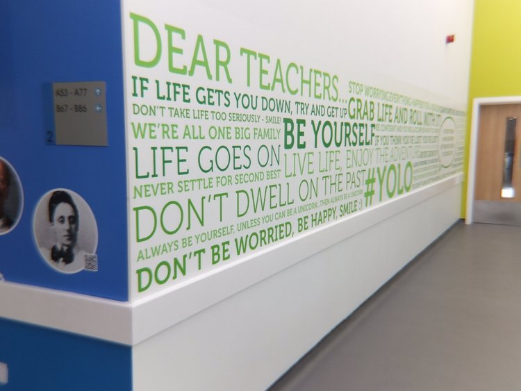 Shotton Hall School wall vinyl