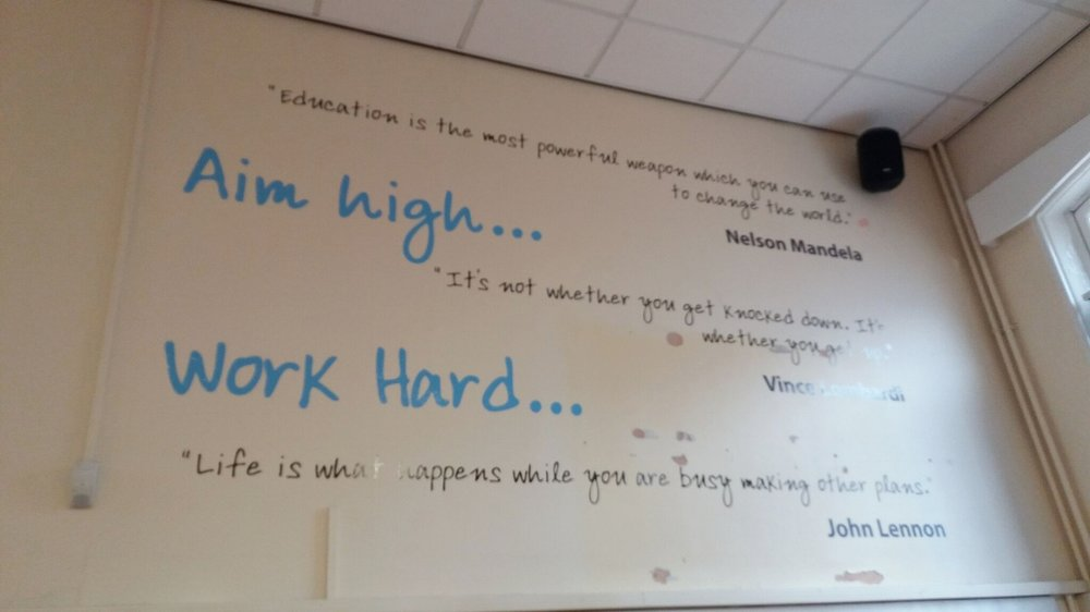 Newington Academy wall wrap