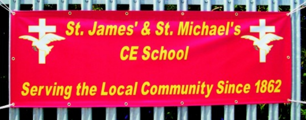 St James CE Fence Mounted Banner