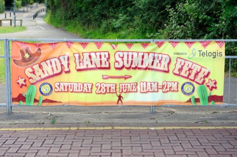 Sandy Lane Summer Fayre Banner