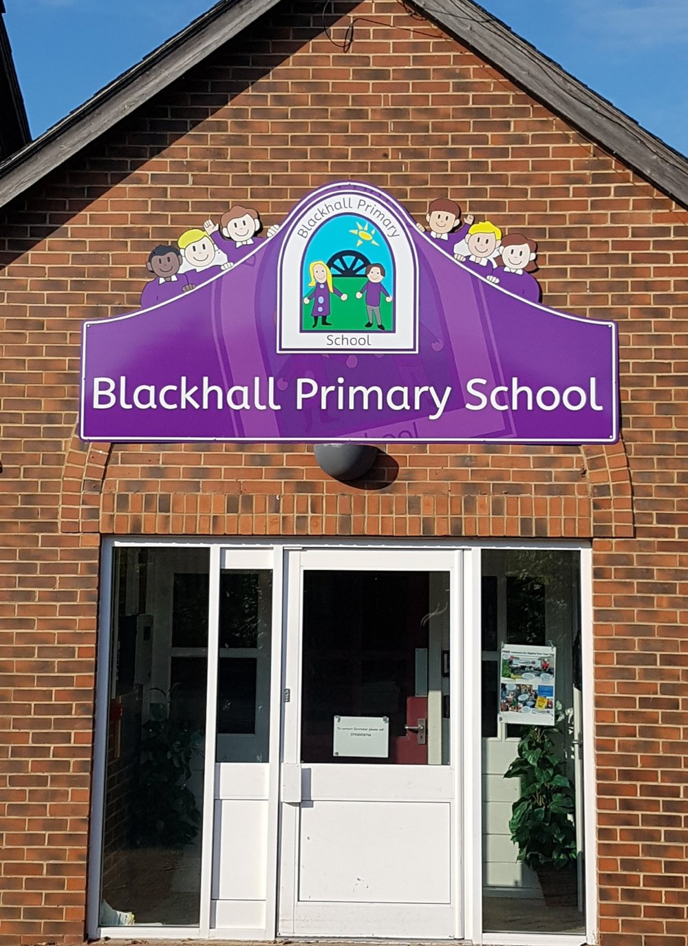 Blackhall Primary Dibond Fascia Sign