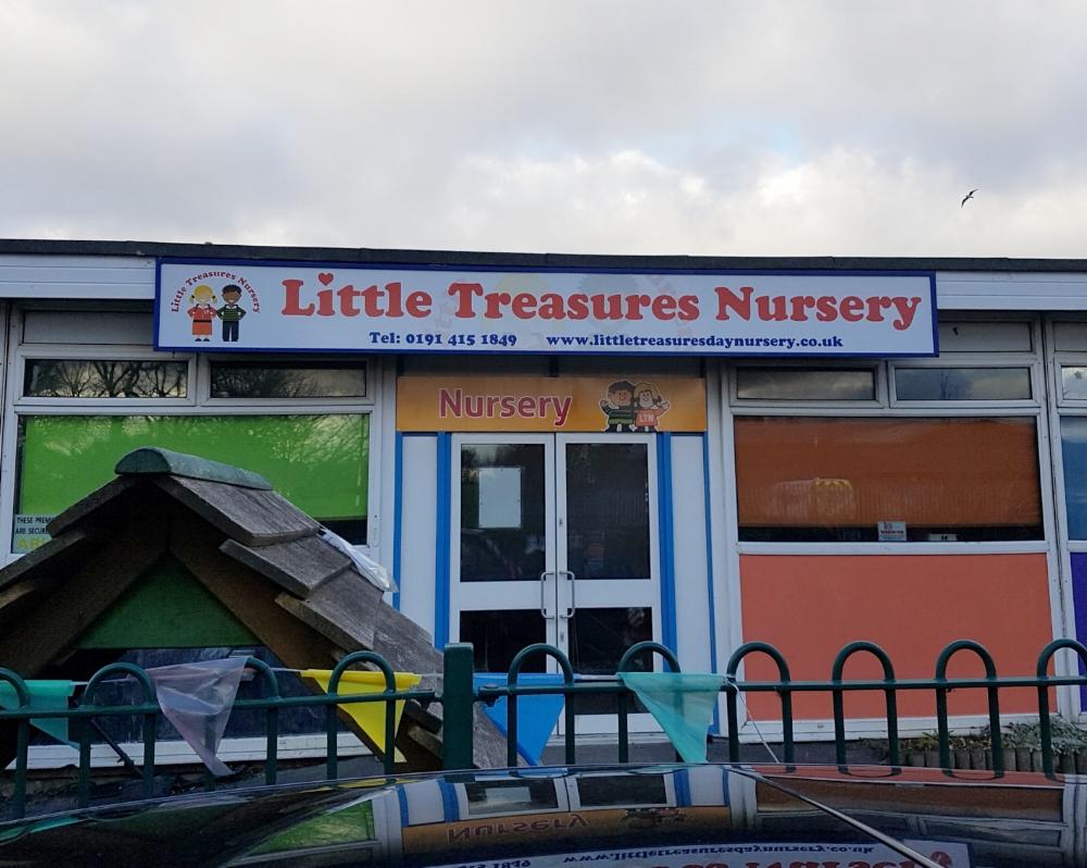 Little Treasures Nursery Dibond Fascia Sign