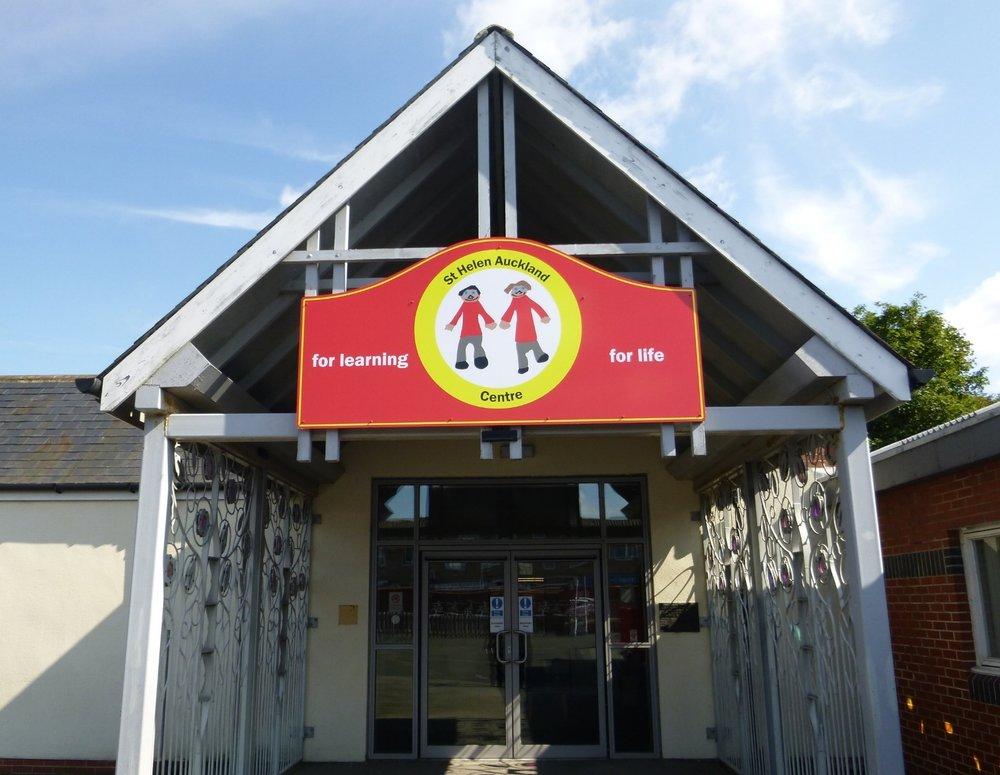 St Helen Auckland Primary Dibond Fascia Sign