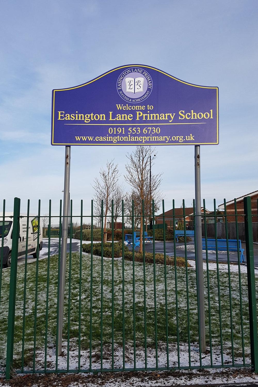 Easington Lane Primary Post Sign