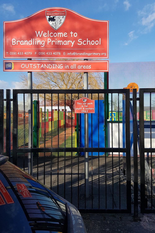 Brandling Primary Post Sign