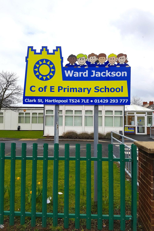 Ward Jackson Primary Post Sign