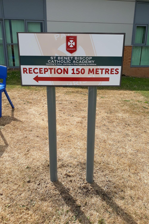 St Benet's Primary Post Sign