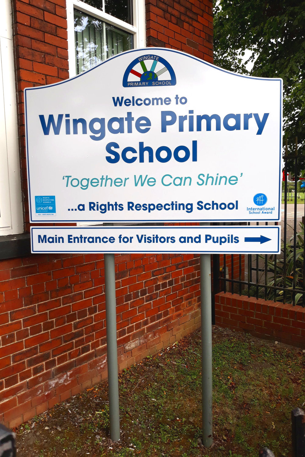Wingate Primary Post Sign
